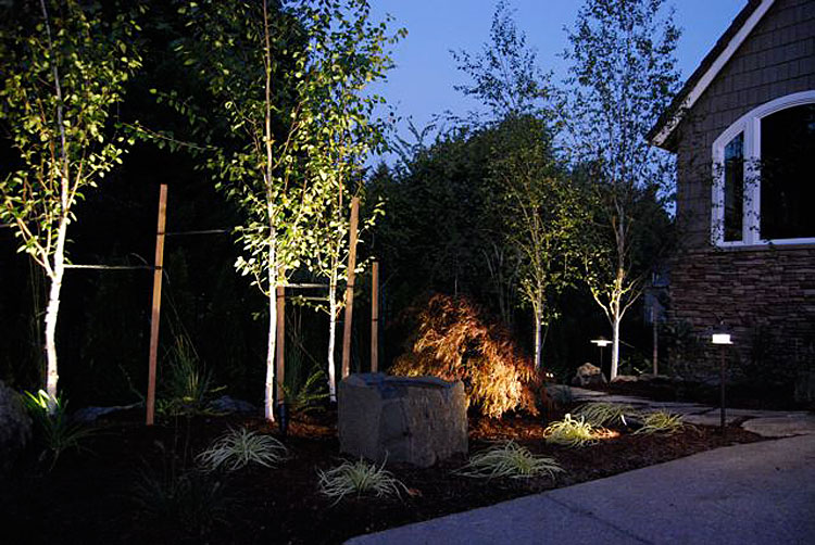 Low voltage outdoor lighting installation outdoor lights can be installed in your eugene home or business workwithnaturefo